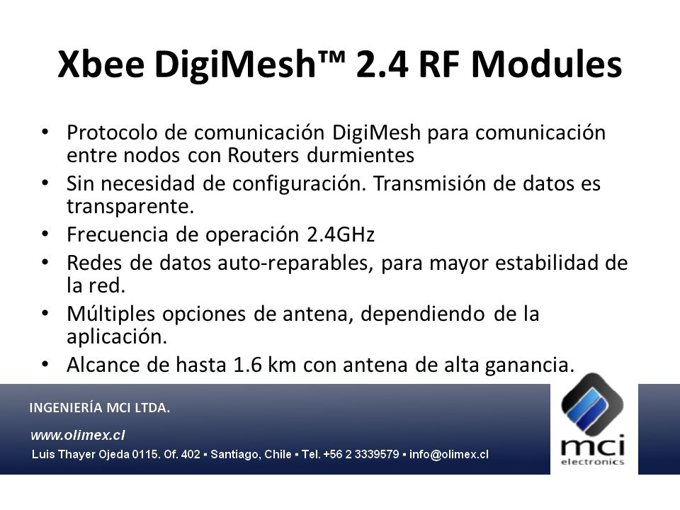 Xbee DigiMesh™ 2.4 RF Modules