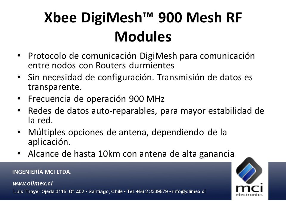 Xbee DigiMesh™ 900 Mesh RF Modules
