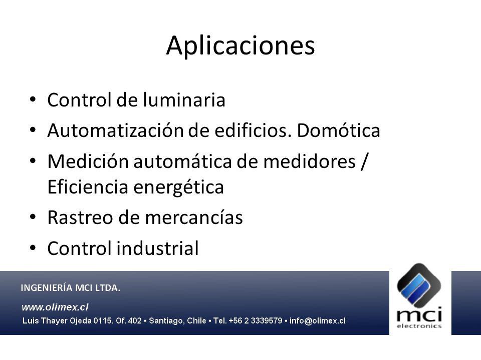 Aplicaciones Control de luminaria