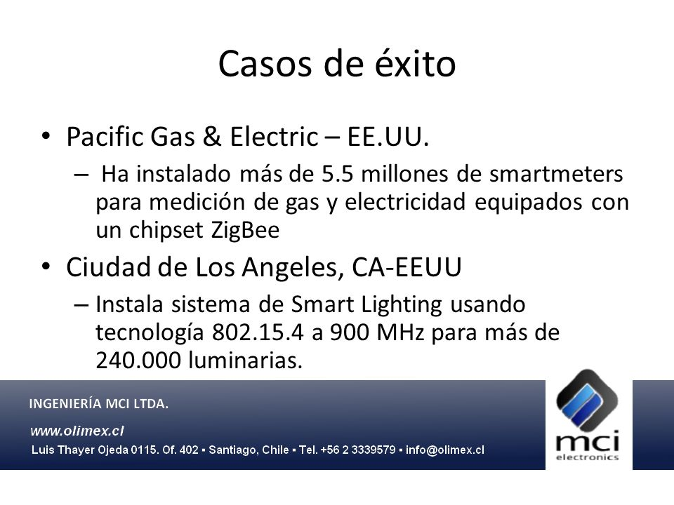 Casos de éxito Pacific Gas & Electric – EE.UU.