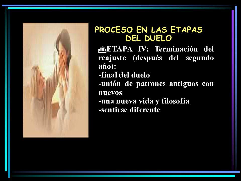 PROCESO EN LAS ETAPAS DEL DUELO