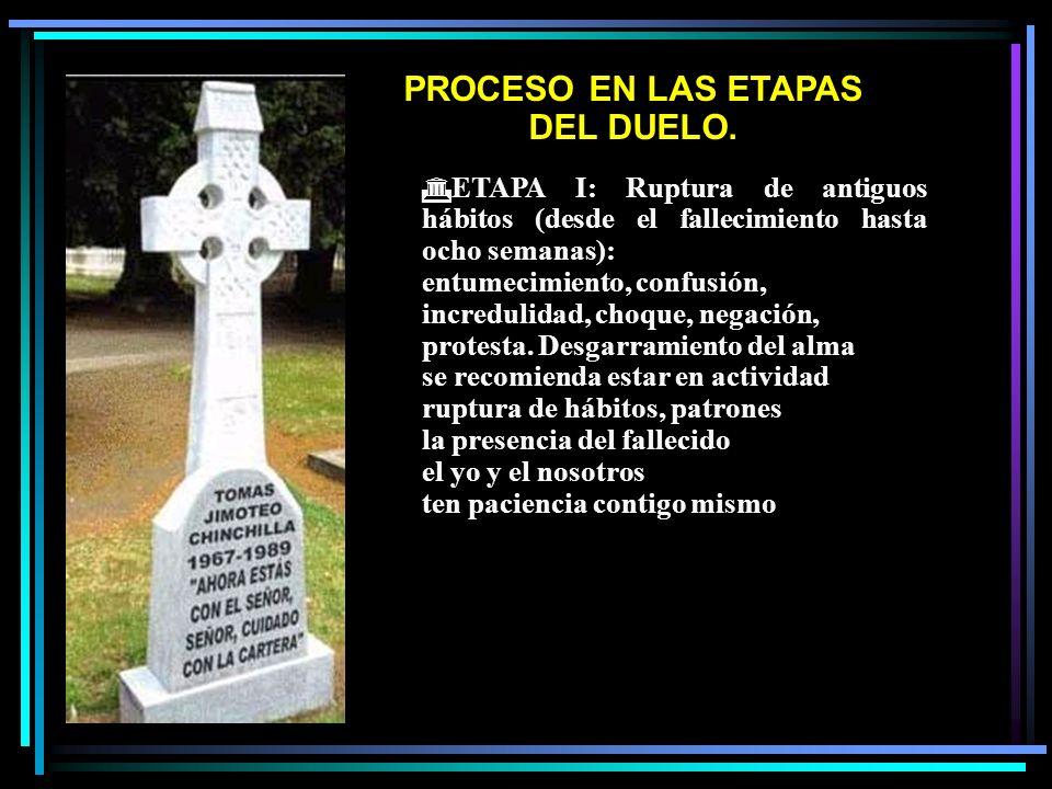 PROCESO EN LAS ETAPAS DEL DUELO.