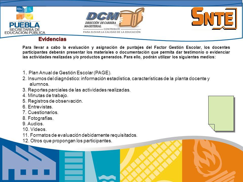 1. Plan Anual de Gestión Escolar (PAGE).
