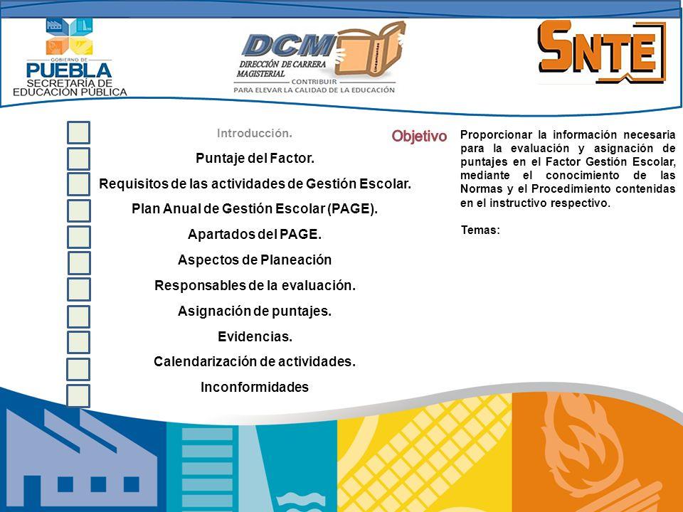 Objetivo Puntaje del Factor.