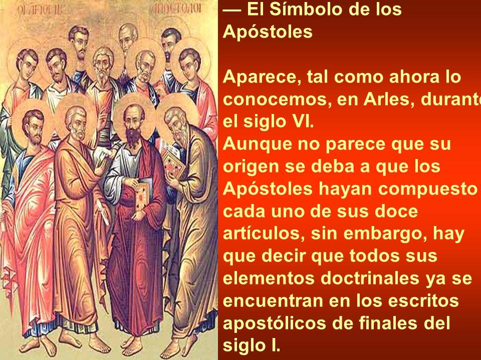 — El Símbolo de los Apóstoles