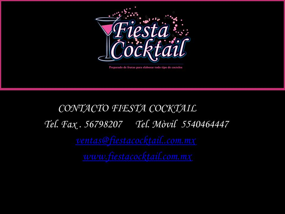 C COCTOCONTACTO FIESTA COCKTAIL
