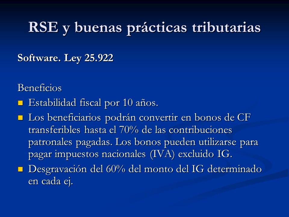 RSE y buenas prácticas tributarias