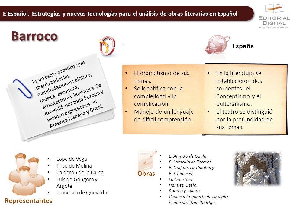 Barroco - España Obras Representantes El dramatismo de sus temas.