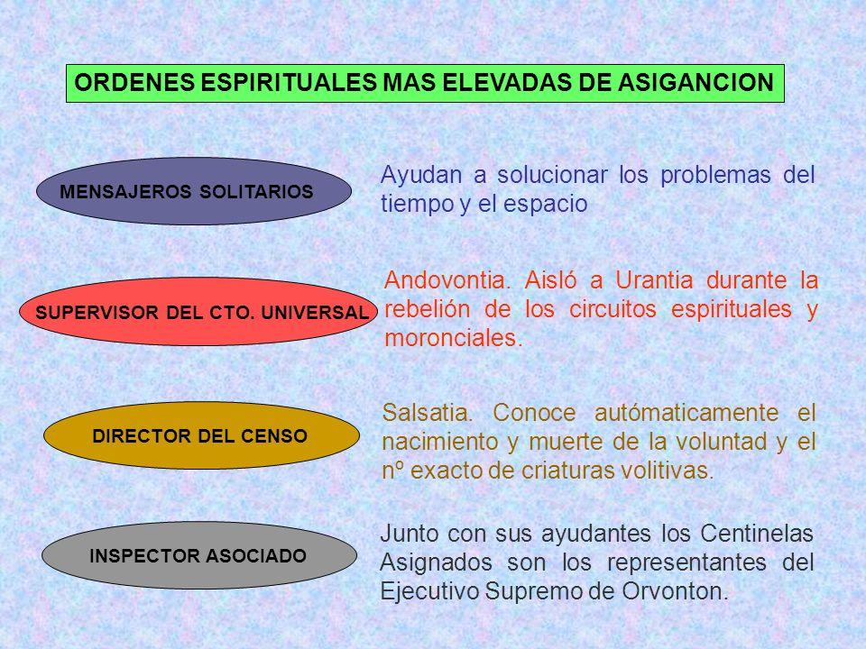 ORDENES ESPIRITUALES MAS ELEVADAS DE ASIGANCION