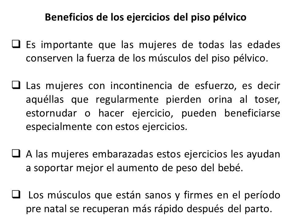 Beneficios de los ejercicios del piso pélvico