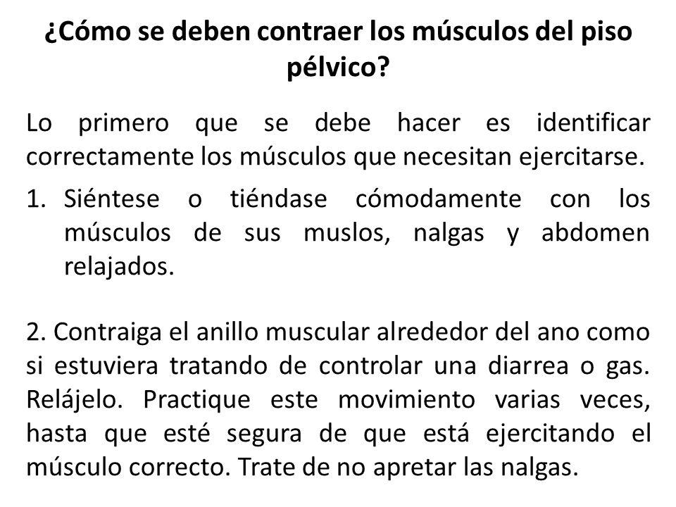 ¿Cómo se deben contraer los músculos del piso pélvico