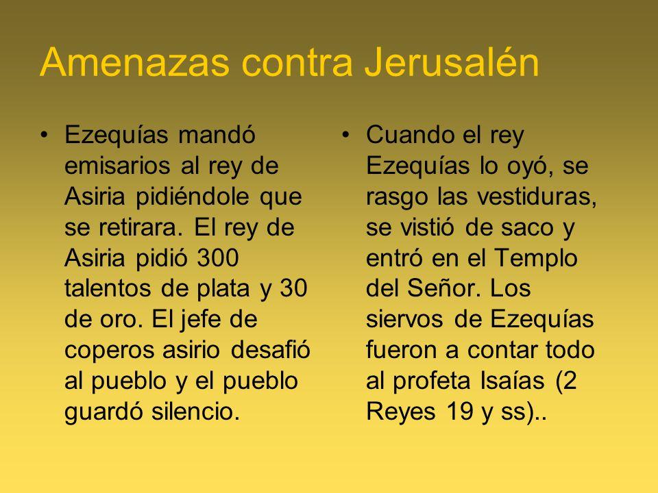 Amenazas contra Jerusalén