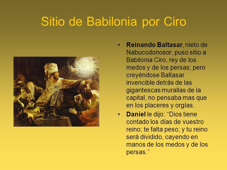 Sitio de Babilonia por Ciro
