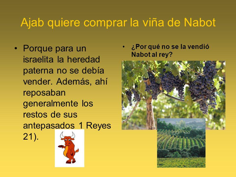 Ajab quiere comprar la viña de Nabot