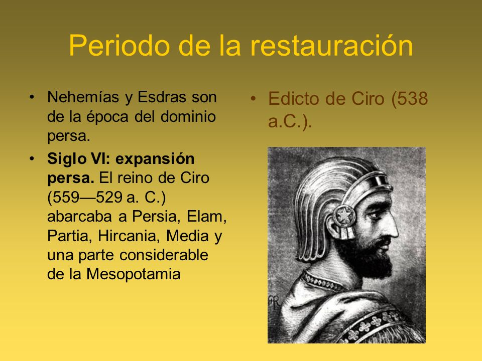 Periodo de la restauración