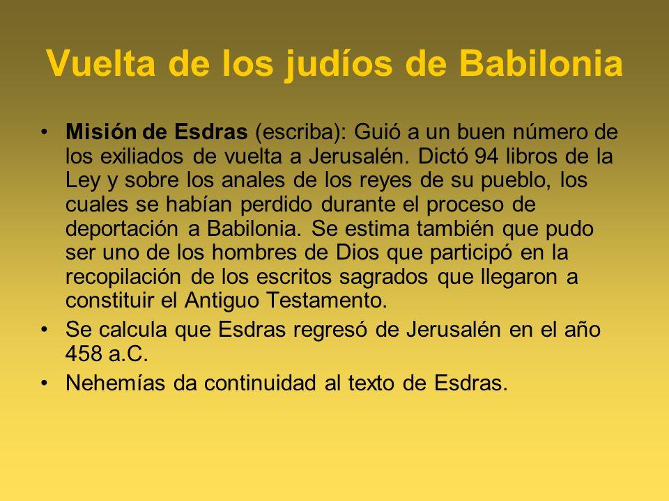 Vuelta de los judíos de Babilonia