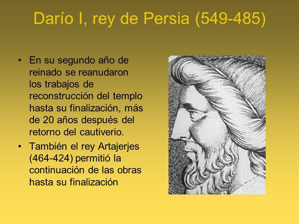 Darío I, rey de Persia (549-485)