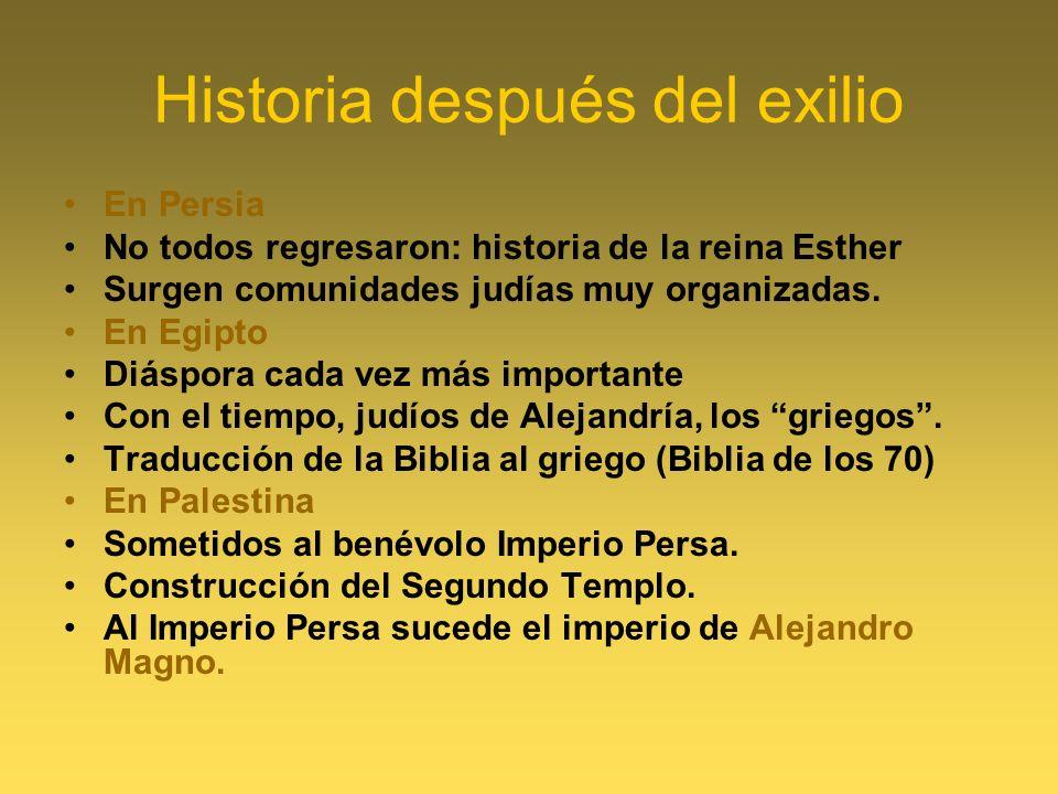 Historia después del exilio