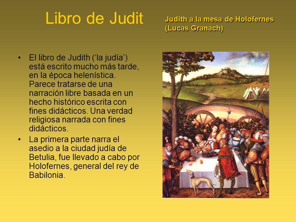 Libro de Judit Judith a la mesa de Holofernes (Lucas Granach)