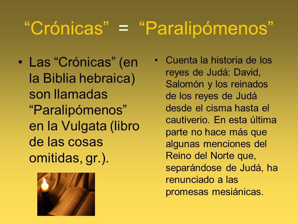 Crónicas = Paralipómenos