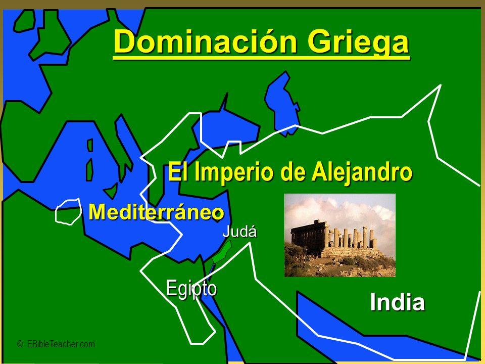 Dominación Griega El Imperio de Alejandro India Mediterráneo Egipto