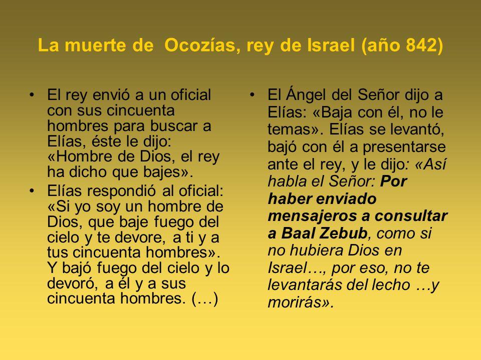 La muerte de Ocozías, rey de Israel (año 842)