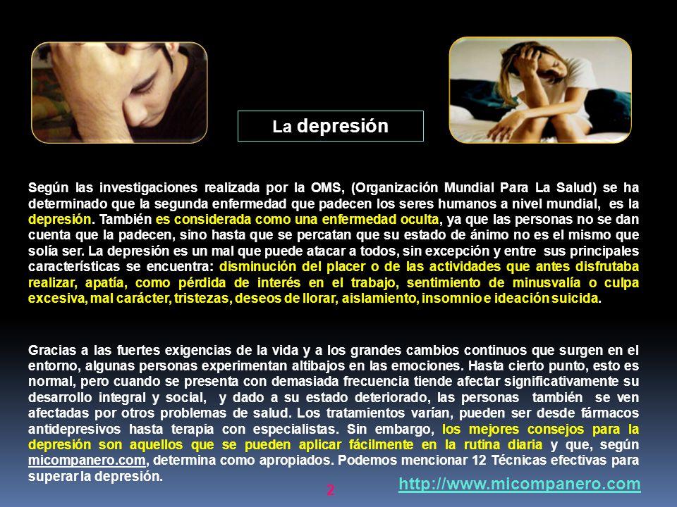 La depresión http://www.micompanero.com