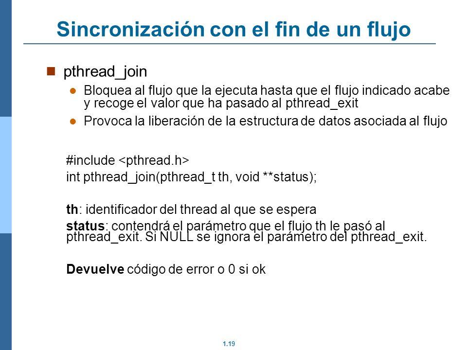 Sincronización con el fin de un flujo