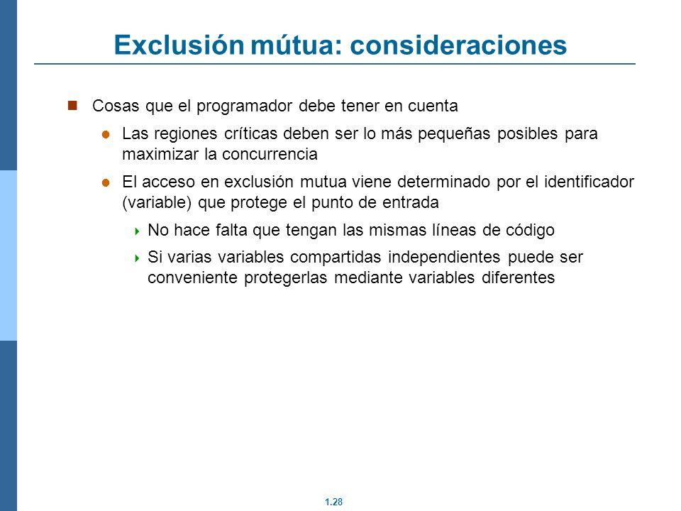 Exclusión mútua: consideraciones