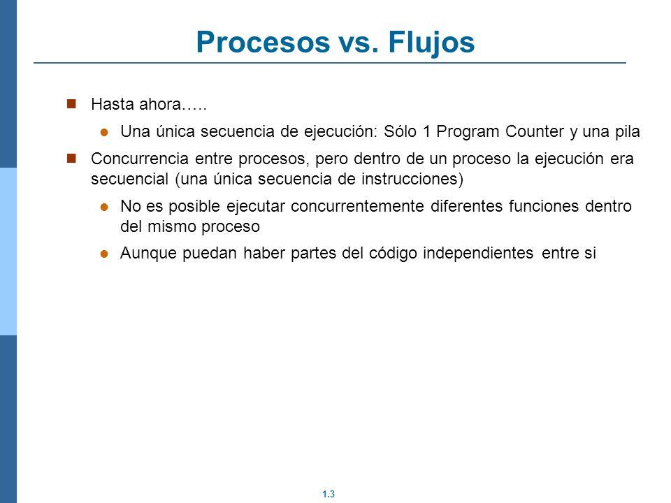 Procesos vs. Flujos Hasta ahora…..