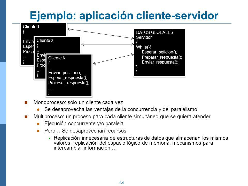 Ejemplo: aplicación cliente-servidor