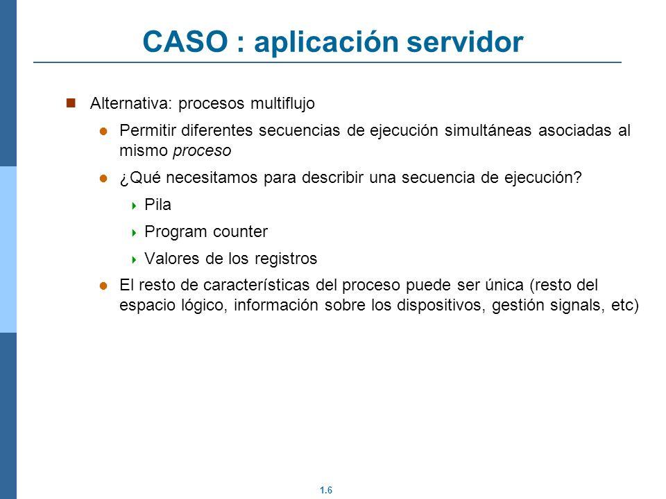 CASO : aplicación servidor