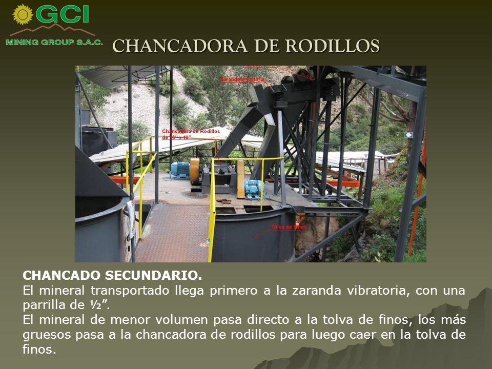CHANCADORA DE RODILLOS