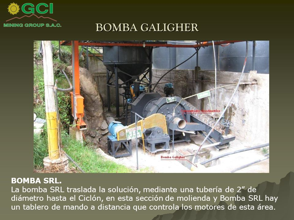 BOMBA GALIGHER BOMBA SRL.