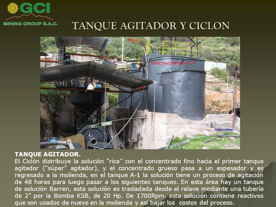 TANQUE AGITADOR Y CICLON