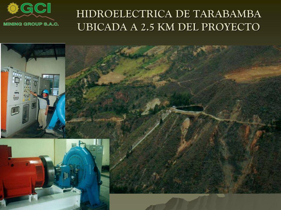 HIDROELECTRICA DE TARABAMBA UBICADA A 2.5 KM DEL PROYECTO