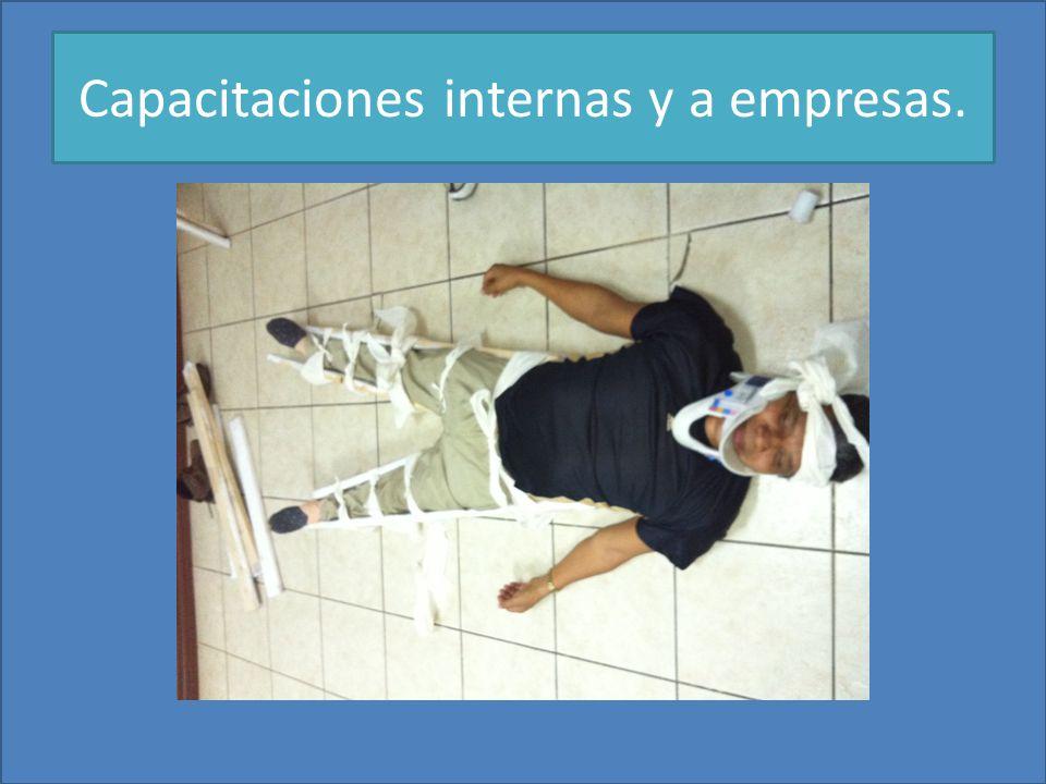 Capacitaciones internas y a empresas.