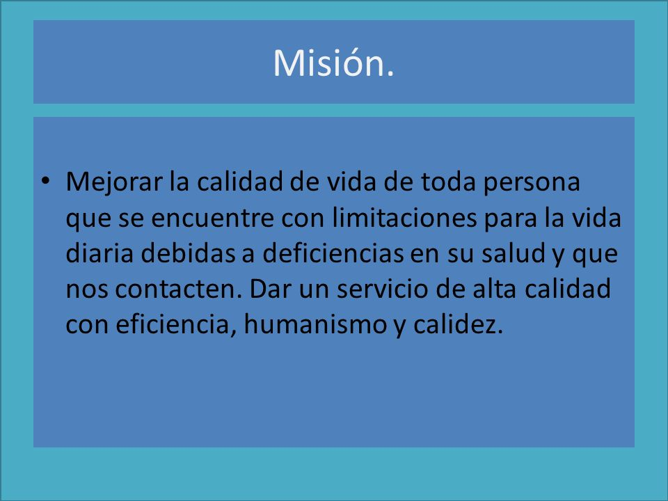 Misión.