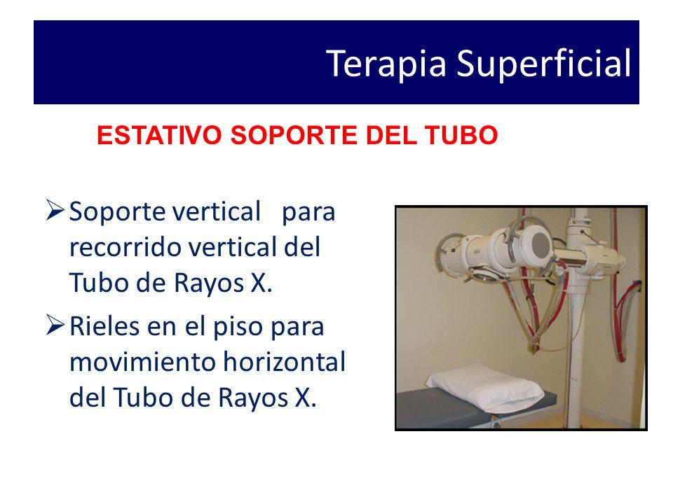 Terapia Superficial ESTATIVO SOPORTE DEL TUBO. Soporte vertical para recorrido vertical del Tubo de Rayos X.
