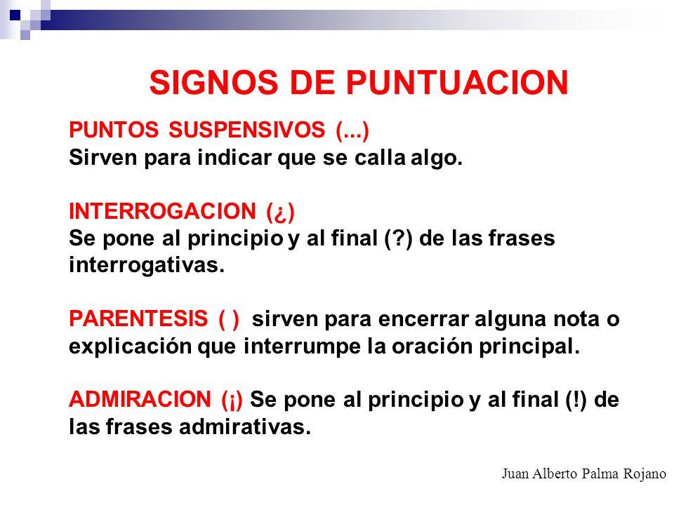 SIGNOS DE PUNTUACION PUNTOS SUSPENSIVOS (...)