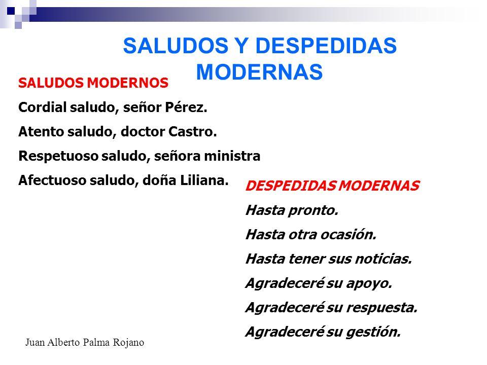 SALUDOS Y DESPEDIDAS MODERNAS