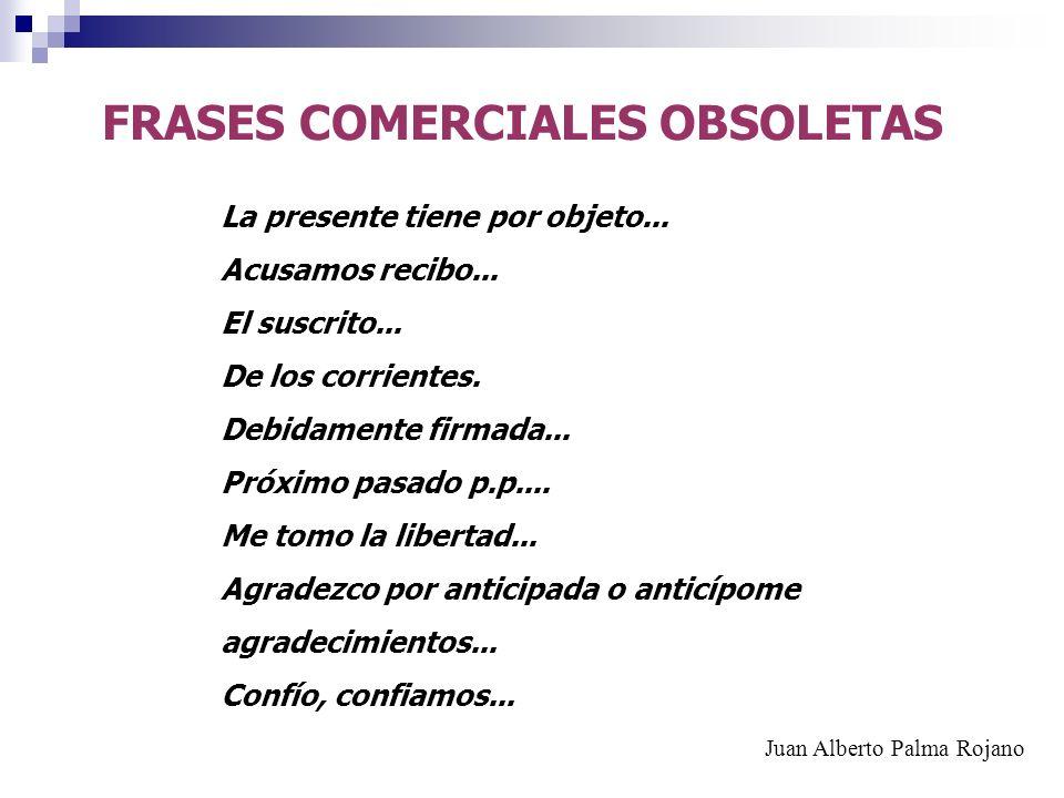 FRASES COMERCIALES OBSOLETAS