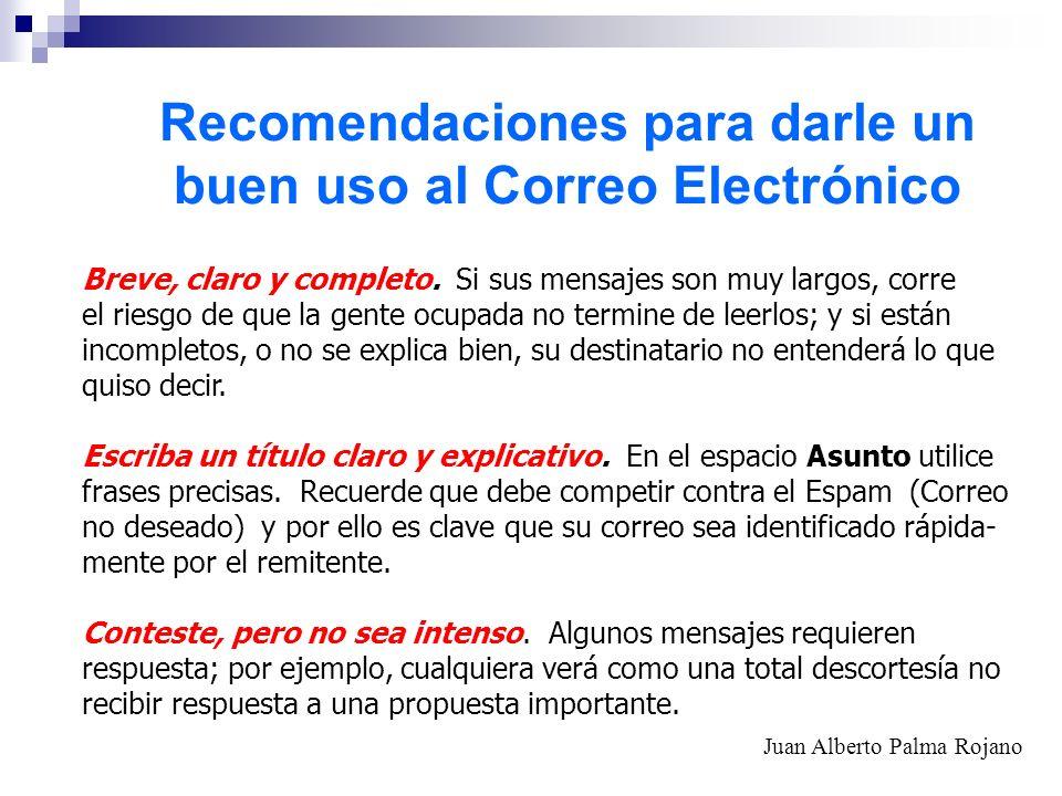 Recomendaciones para darle un buen uso al Correo Electrónico