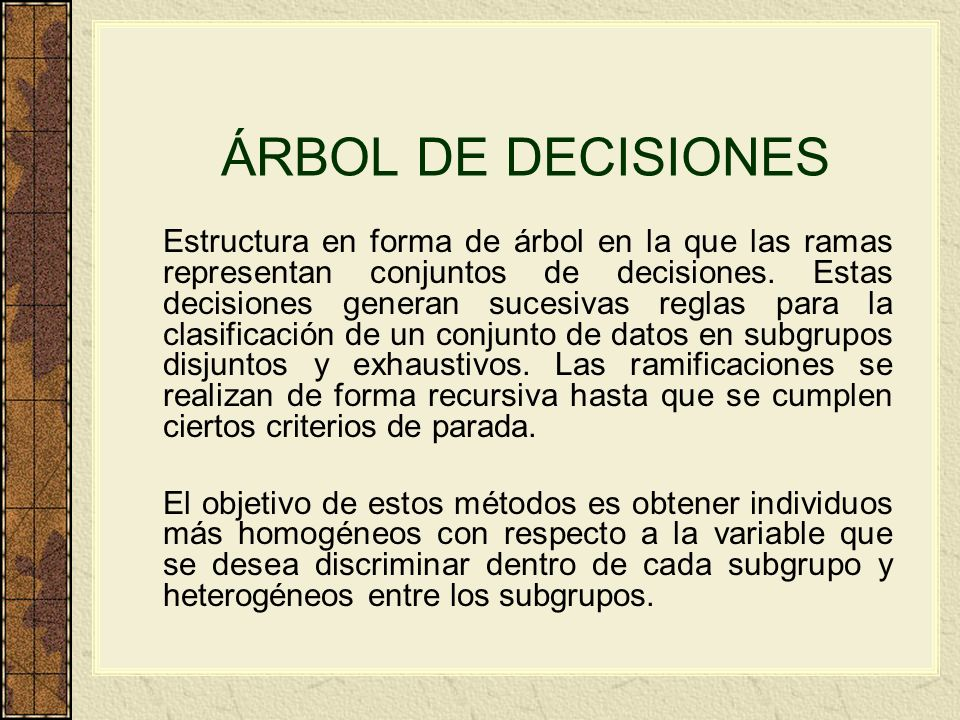 ÁRBOL DE DECISIONES