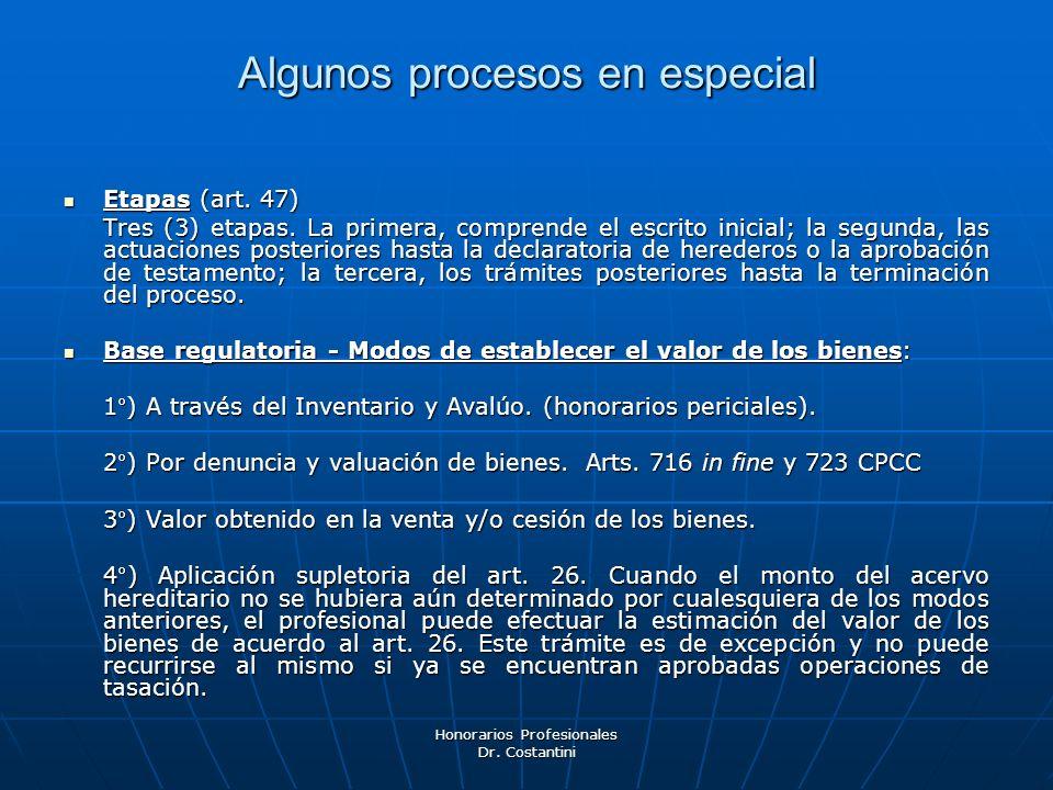 Algunos procesos en especial