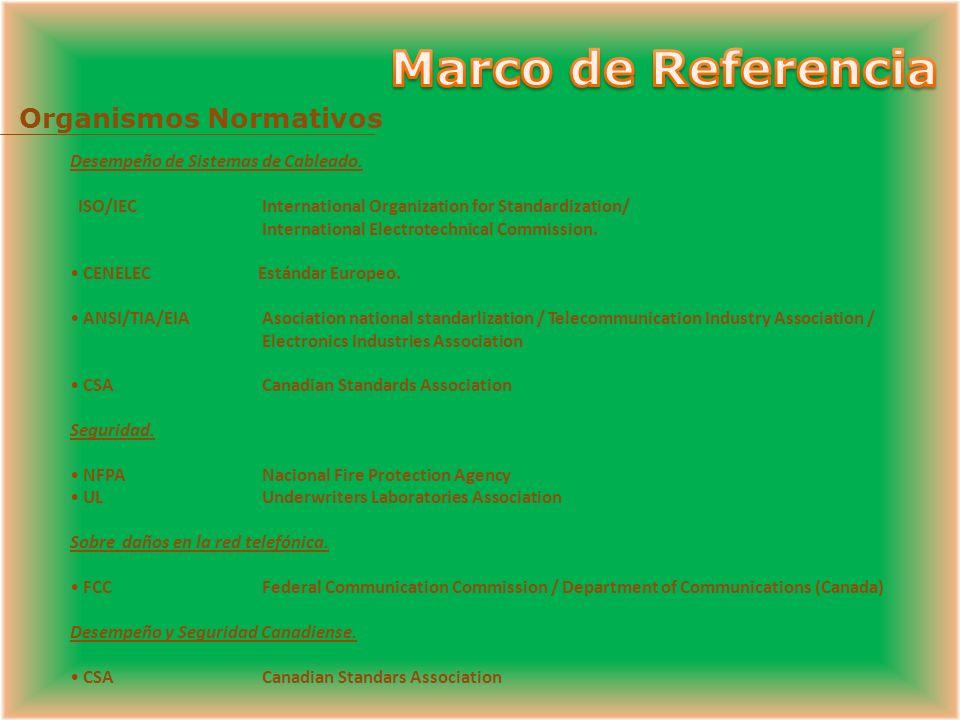Marco de Referencia Organismos Normativos