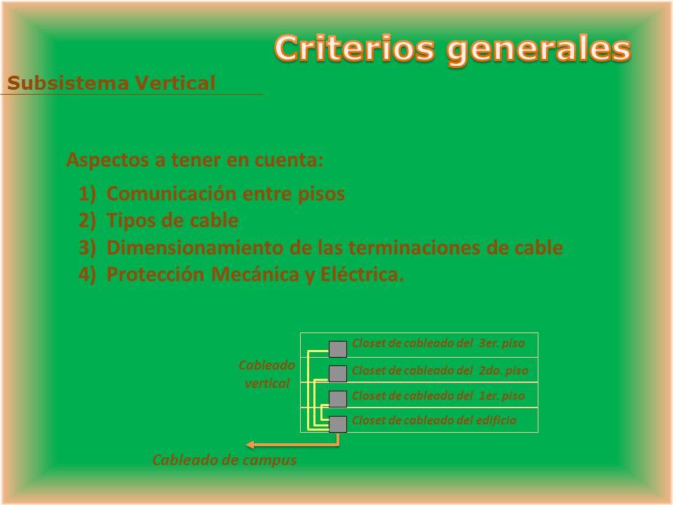 Criterios generales Aspectos a tener en cuenta: