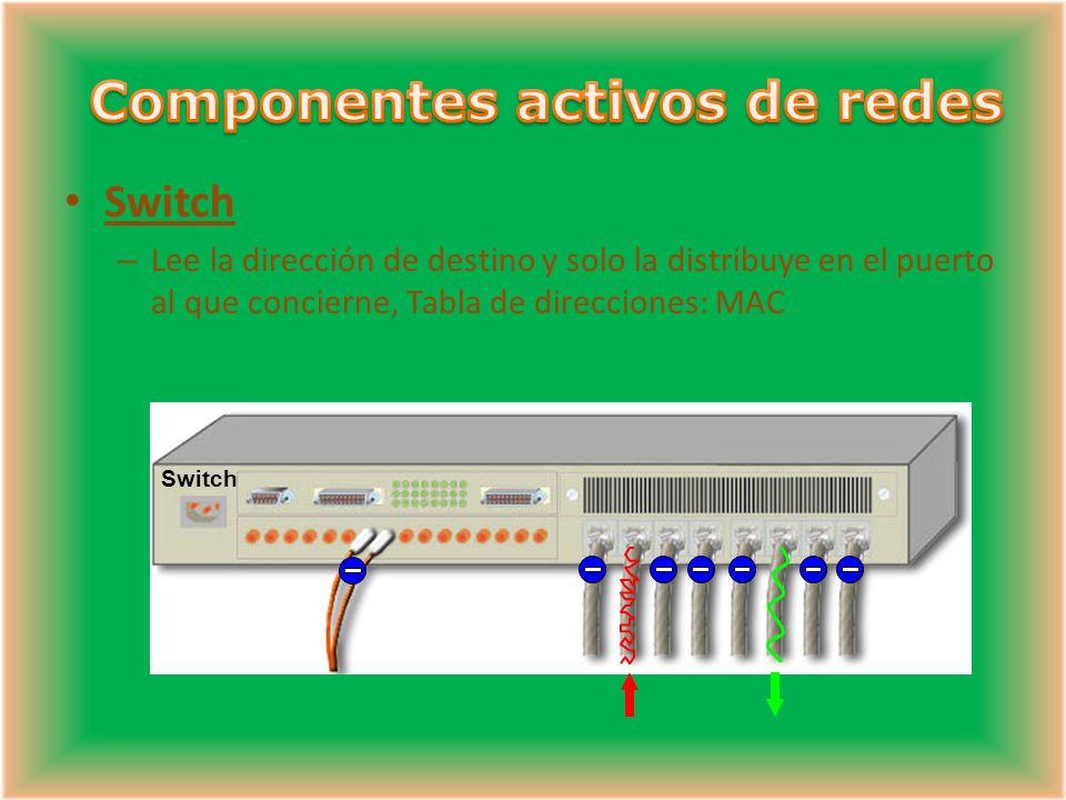 Componentes activos de redes