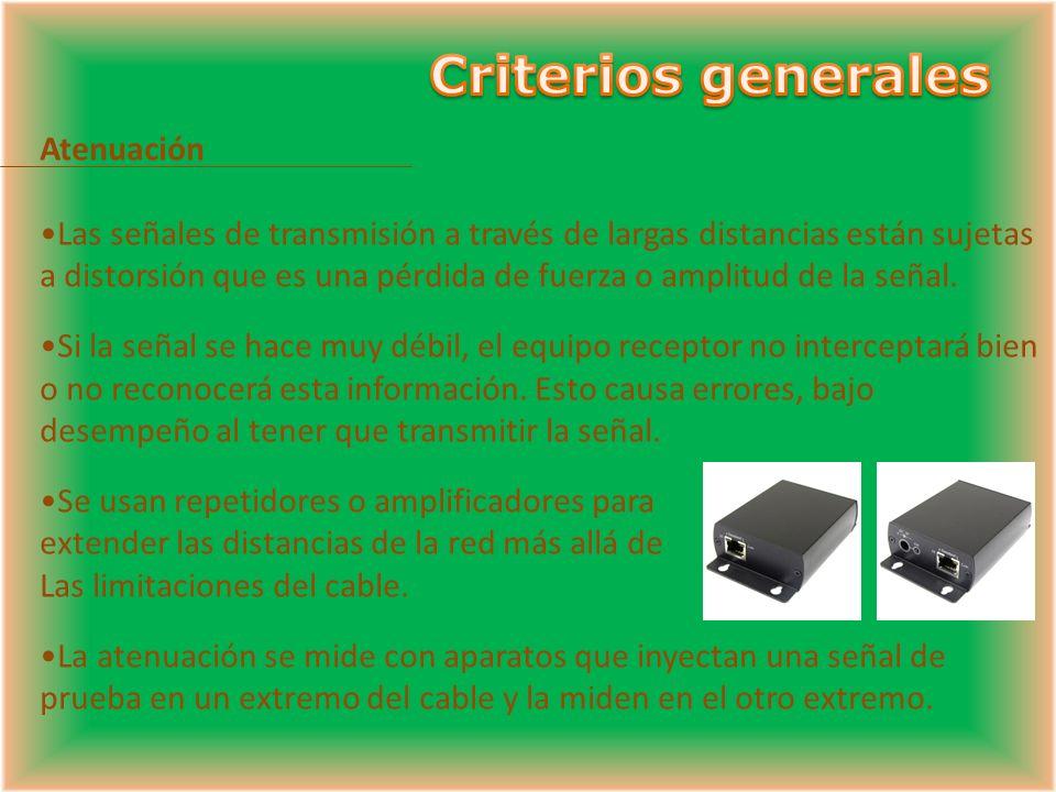 Criterios generales Atenuación