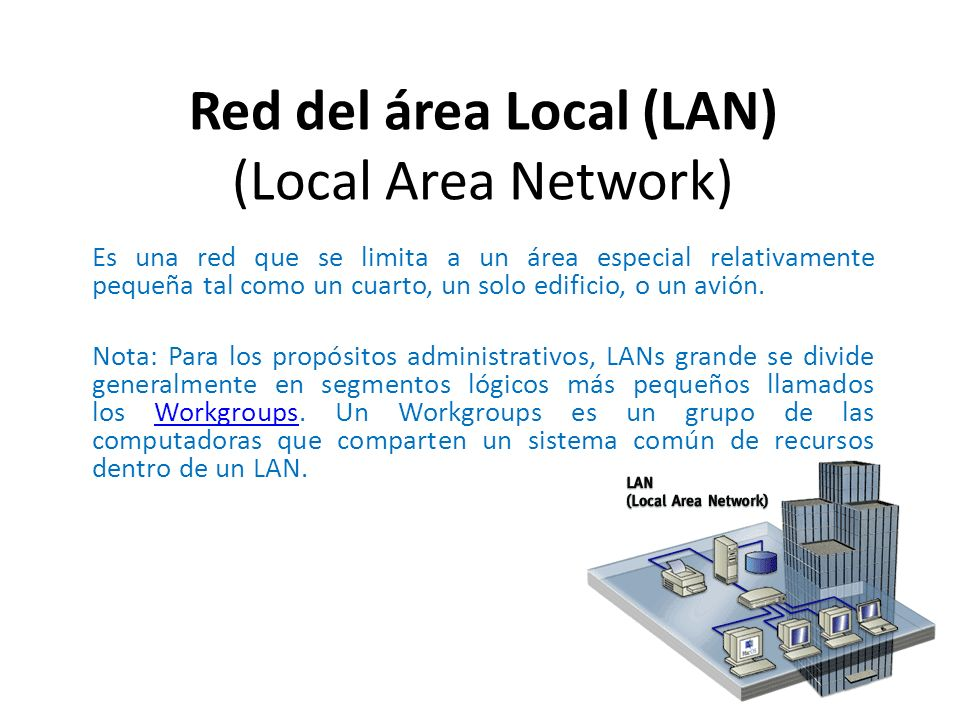 Red del área Local (LAN) (Local Area Network)